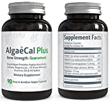 Natural Calcium and Magnesium Supplement - AlgaeCal Plus (90 Capsules) - All-Natural, USDA Certified Organic Algae - 3 Vitamins and 73 Trace Minerals Aid in Restoring Strong and Healthy Bones