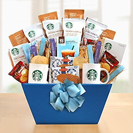 For the Starbucks Lover Gift Basket by The Gift Basket Gallery