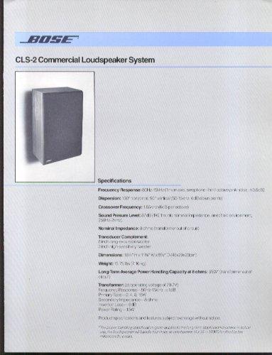 Bose CLS-2 Commercial Loudspeaker System folder 1983 - Commercial Loudspeakers