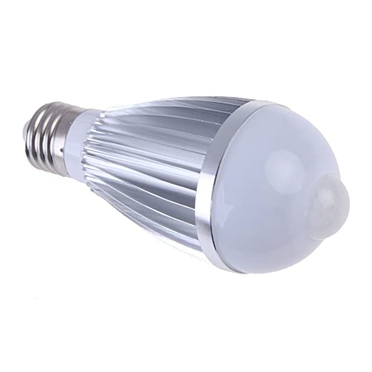 E27 Bombilla LED de casquillo - SODIAL(R) 7W Bombilla LED con sensor de