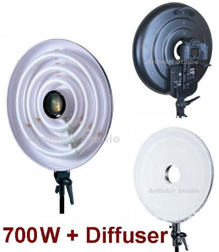 Ardinbir Studio 700W Daylight Cool Macro Ring Light Diffuser Kit for Pentax K20D, K10D, K2000, K200D, K100D, K110D, K-X, K-7, *ist DL, DS, K300, K5, K1000 K-R, Fujifilm S2 Pro, S3, S5, S200EXR, HS10, by Ardinbir Studio