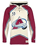 NHL Colorado Avalanche Patrick Roy Men's Player Lacer Name & Number Hoodie, XX-Large, Multicolor