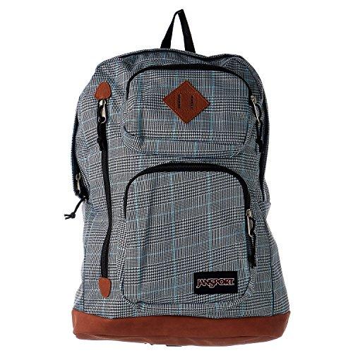 JanSport Houston Laptop Backpack- Sale Colors (Black/White Suited Plaid) ()