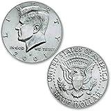 U.S. Half Dollar regular (ungimmicked) - mezzo dollaro singolo pezzo - Magia con Monete - Giochi di Magia e Prestigio