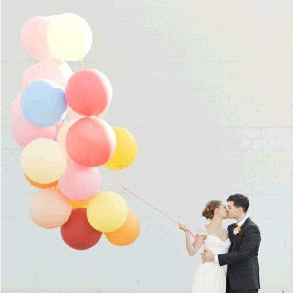 Depory Lot de 5 ballons g/éants en latex 90 cm pour d/écoration de mariage//f/ête No/ël//anniversaire Blanc