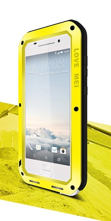 Aluminium mit Gorillaglas-Abdeckung Love Mei Schutzh/ülle f/ür HTC One A9 robust staubdicht wasserdicht sto/ßfest