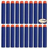 100 Pcs 7.2cm Blue Foam Darts for Blasters Toy Gun-Blue