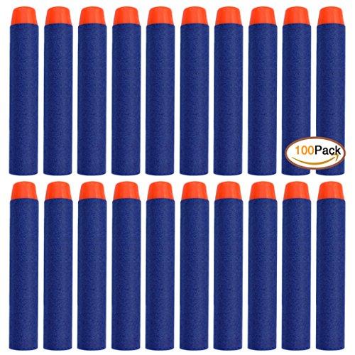 Miayon 100 Pcs 7.2cm Blue Foam Darts for Blasters Toy Gun-Blue (Toy Dart Gun)