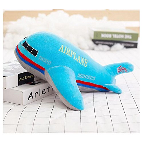 Dongcrystal 15.7 Inches Blue Airplane Model Plush Toy Stuffed Pillow (Toy Planes Plush)