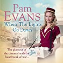 When the Lights Go Down Audiobook by Pam Evans Narrated by Annie Aldington