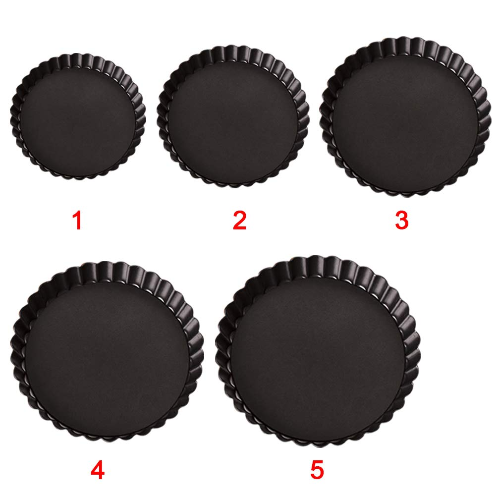 UxradG 6// 8//10//11//12 Non-Stick Removable Loose Bottom Quiche Tart Pan Round Tart Quiche Pan with Removable Base for Pizza//Cake Mini Baking Non Stick Pie Pan 6 Inch