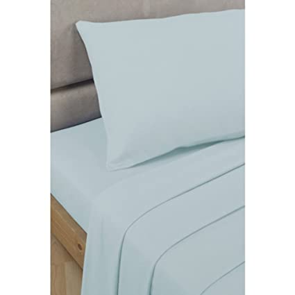 Duck Egg Super King Size Flat Sheet Polycotton Percale Bed Sheet