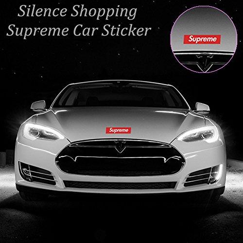 Silence Shopping Große Supreme Aufkleber 19 6cm