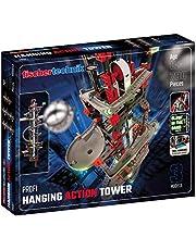 fischertechnik 554460 Hanging Action Tower vanaf 8 jaar de eerste kbaan, die aan planken en kasten kan worden bevestigd, het grootste model is 96 cm hoog, 3 modellen incl. Easy Elevator