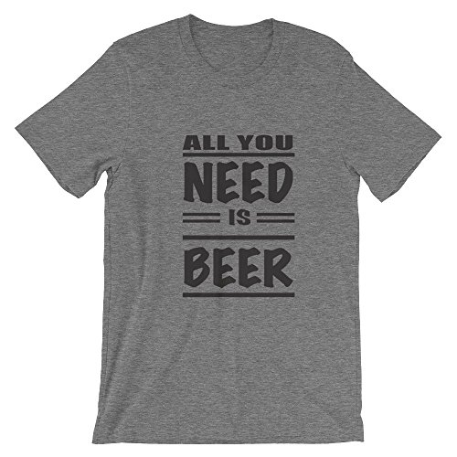 Ground 29 Deep Heather All You Need Is Beer Unisex T-Shirt_Small