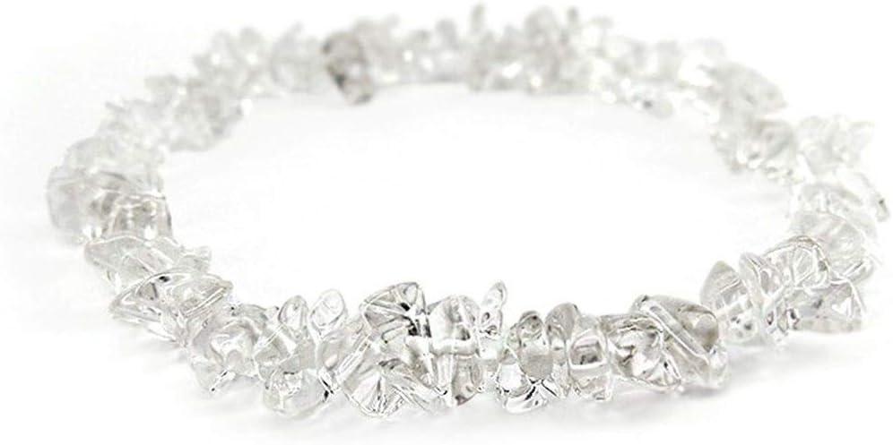 Pulsera Chip de Cuarzo Transparente Minerales y Cristales, Belleza energética, Meditacion, Amuletos Espirituales