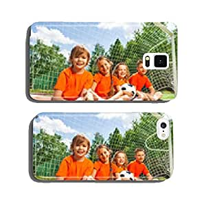 Happy children sitting together on field grass cell phone cover case iPhone6 Plus