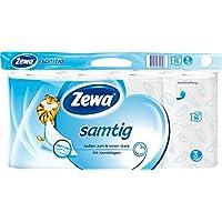 Zewa samtig Toilettenpapier, extra sanftes WC-Papier 3-lagig mit innovativer Kombilagen-Qualität, 1 x Vorratspack mit 16 Rollen