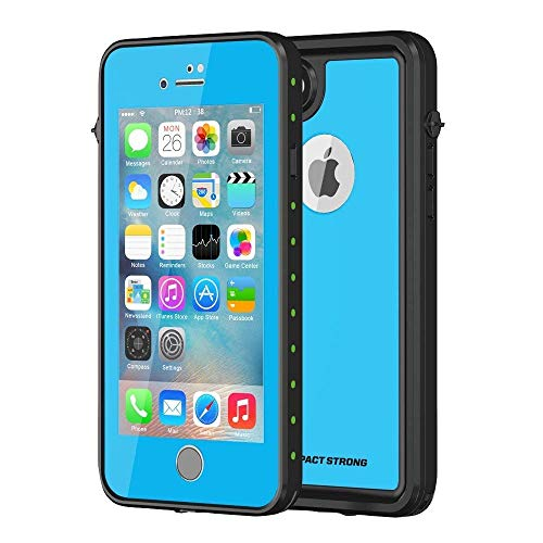 iPhone 7/8 Waterproof Case, ImpactStrong [Fingerprint ID Compatible] Slim Full Body Protection for Apple iPhone 7 and iPhone 8 (4.7 inch) - Sky Blue