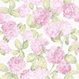 G34311 - English Florals Floral Green & Pink Galerie Wallpaper