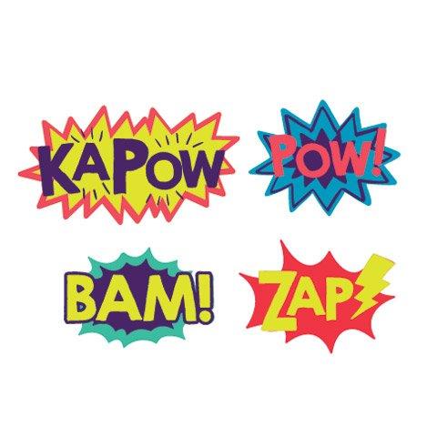 72 Superhero Words Peel Off Foam Stickers~Arts & Crafts~Scrap - Captain Costume Diy America