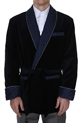 What to Get your Dad for Christmas in 2016 - Men's Smoking Jacket Bartholomew Navy
