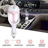 Car Humidifier Air Refresher Purifier Aromatherapy Essential Oil Diffuser (Pink)