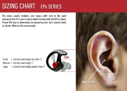 SureFire EP7 Sonic Defenders Ultra filtered Earplugs w/ Comply Canal Tips, reusable, Orange, Small by SureFire (Image #3)