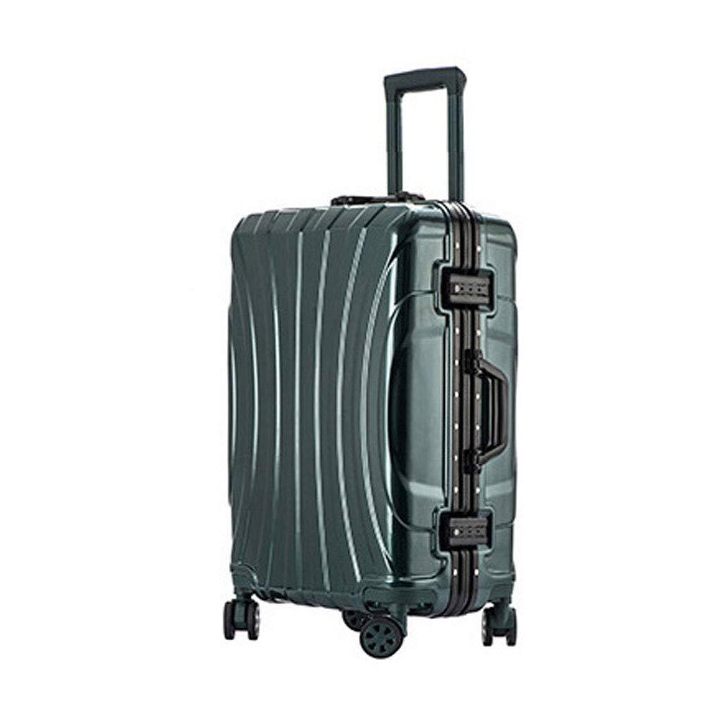 荷物超軽量Absハードシェルホールド荷物スーツケーストラベルバッグトロリーケースホールド4つの車輪でチェックイン3桁のコンビネーションロック(44 * 28 * 67 Cm)  D B07MM1QHXV