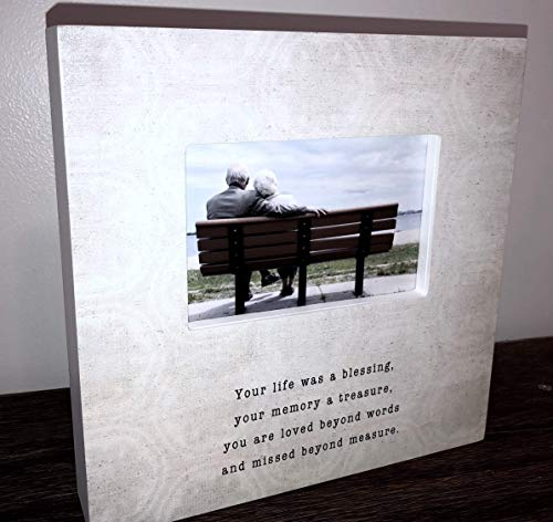 Sympathy Picture Frame Sign Your life was a blessing your memory a treasure Sympathy Gift Sympathy sign loss of loved one