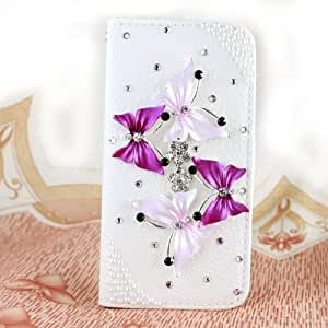 LC Luxury 3D Bling Crystal Rhinestone Wallet Leather Purse Flip Card Pouch Stand Cover Case for Nokia Lumia 900 (900-A9)