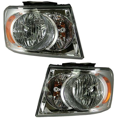 Headlights Headlamps Left & Right Pair Set for 07-09 Dodge Durango