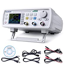 Kuman 30MHz High Precision Dual-channel DDS Arbitrary Signal Waveform Generator Counter, 2.4in Screen Display,250MSa/s, 819214bits,Frequency meter, VCO, Burst, Modulation Function FY6600