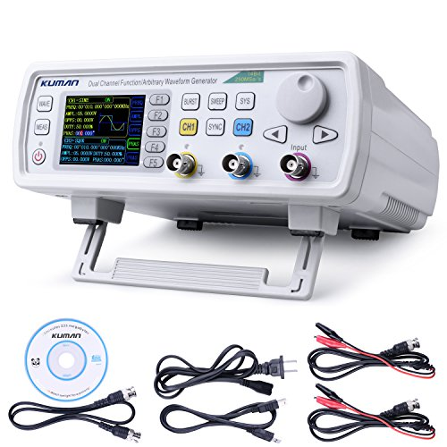 Price comparison product image Kuman 30MHz High Precision Dual-channel DDS Arbitrary Signal Waveform Generator Counter, 2.4in Screen Display,250MSa/s, 819214bits,Frequency meter, VCO, Burst, Modulation Function FY6600