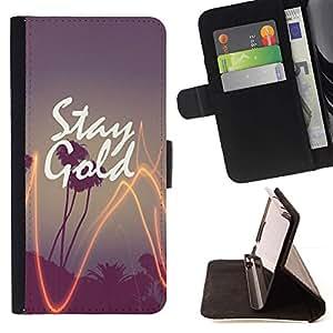 Momo Phone Case / Flip Funda de Cuero Case Cover - Californie Palm Tree Sunset - Sony Xperia Z3 Compact