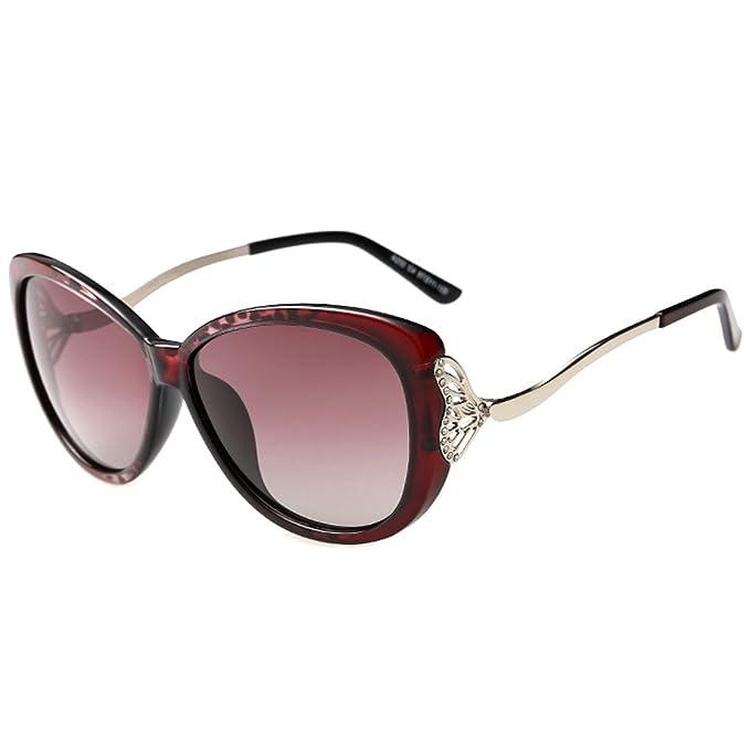 Leben - Gafas de sol - para niña granate (Wine): Amazon.es ...