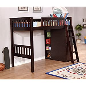 Discovery World Furniture Espresso Twin Loft Bed