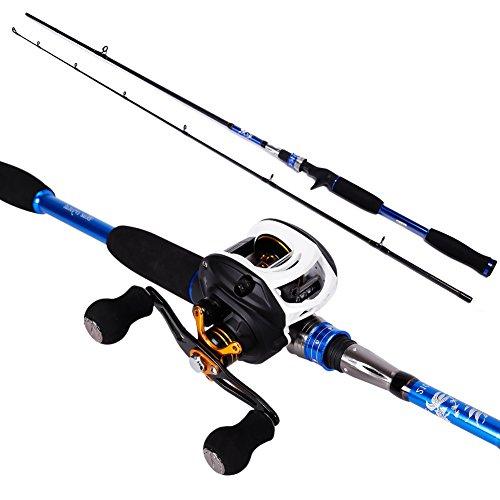 Sougayilang Baitcasting Rod Reel Combos MH Graphite Casting Rod with 11BB Baitcast Fishing Reel Kit