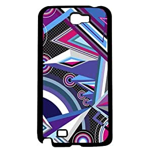 Cool Purple and Pink and Blue Design Hard Snap on Case (Note 2 II)