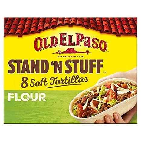 Old El Paso 8 Soporte N Stuff suaves Tortillas de Harina 193g
