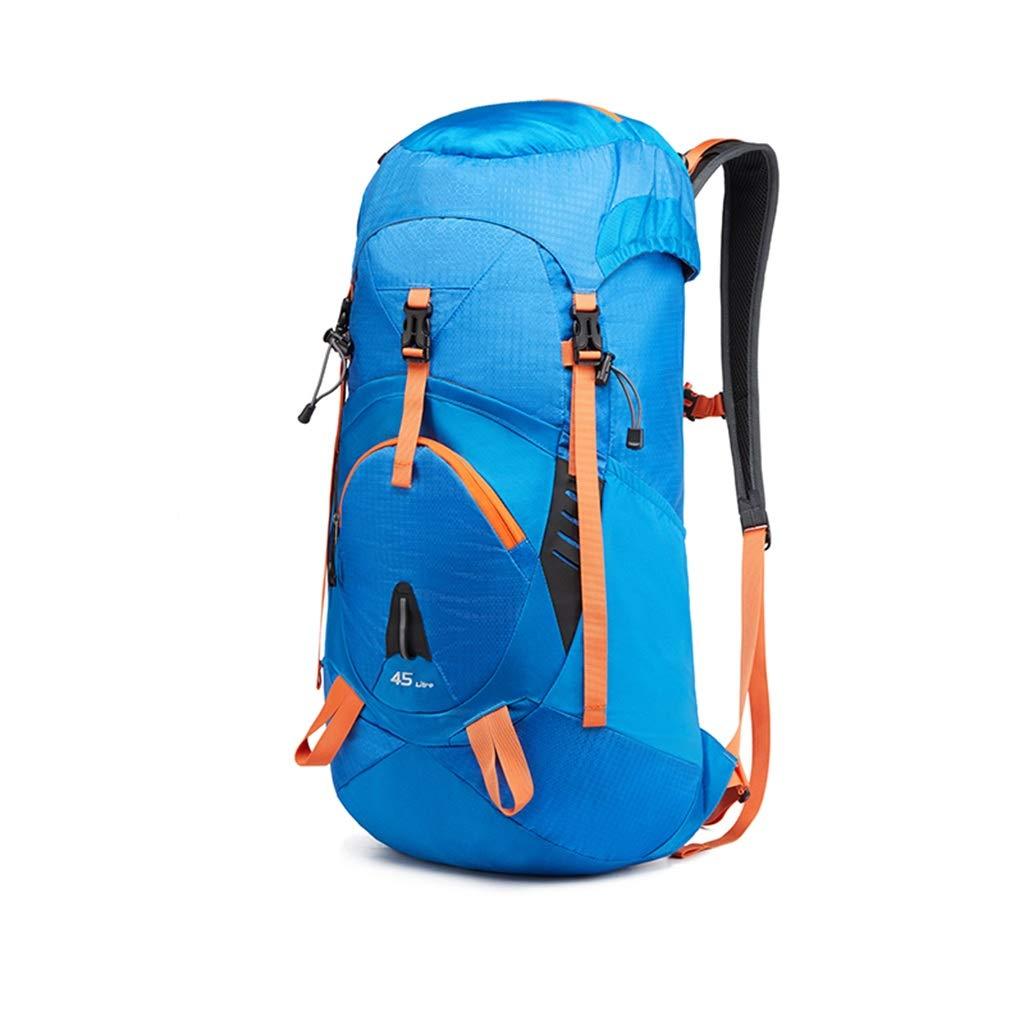 45L / 65L軽量防水トラベルバックパックデイパックヒップベルトアウトドアクライミングキャンプハイキング旅行 ZHAOYONGLI (Color : Blue, Size : 65L) B07SN9G964 Blue 65L