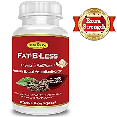 Fat-B-Less Extreme Weight Loss Diet Pills for Men and Women – All Natural Supports Appetite Suppression,Boosts Metabolism & Energy Levels, Contains Green Tea, Green Coffee Bean Raspberry Ketone