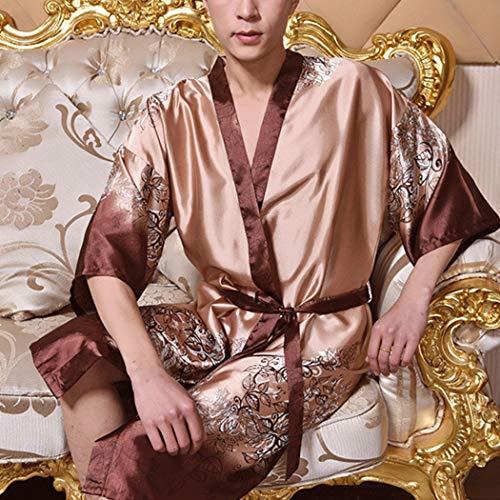 Pigiama Huifang Stampa Autunno Primavera Casa Estate A B colore Uomo Dimensioni L Stile Da Maniche E Imitazione Kimono In Corte cqrIfxZn6q
