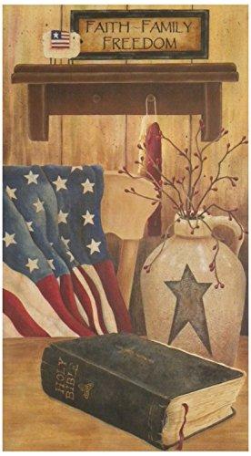 Your Hearts Delight Faith Family Freedom Canvas Wall Decor, 11-3/4 by 21-Inch - Freedom Heart