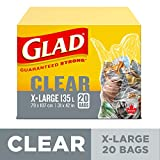 Glad Clear Garbage Bags - Extra-Large 135 Litres - 20 Trash Bags