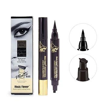 Back To Search Resultsbeauty & Health Music Flower Brand Eyes Makeup Tattoo Seal Liquid Eyeliner Pen Waterproof Matte Black Stamp Wanton Eye Liners 24hr Long-lasting