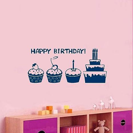 Palabras de feliz cumpleaños Pegatinas de pared Decoración ...