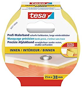 Tesa 56271-00000-00 Precision Indoor - Cinta de pintura para perfilar contornos