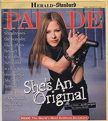ORIGINAL Vintage February 16 2003 Parade Magazine Avril Lavigne