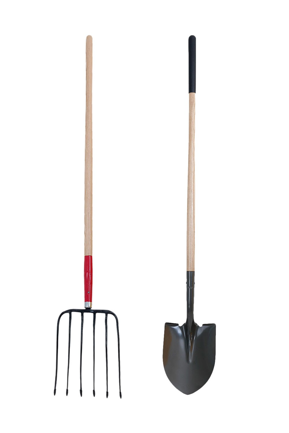 best garden fork - Forged Barley Fork Manure Fork and Round Point Shovel With Wood Handle -Super Sales